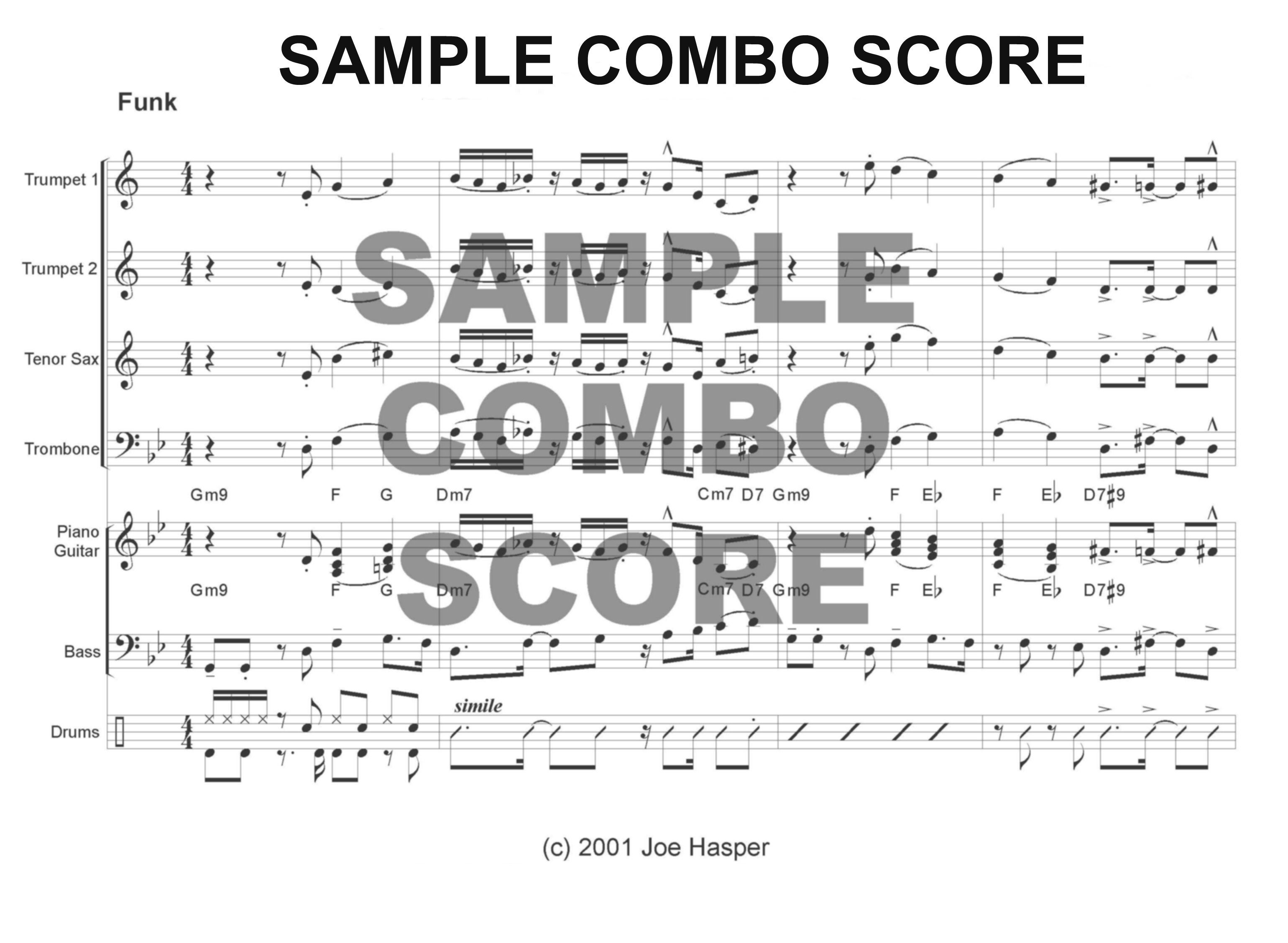 6+ Horn Charts - Charts and arrangements for combo, big band